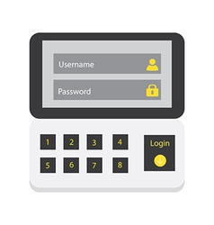 User login 41 vector image