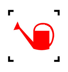 Watering sign red icon inside black focus vector