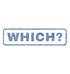 Which question textile stamp vector