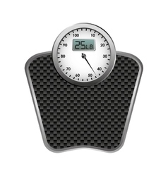 Balance scale weight measure icon vector