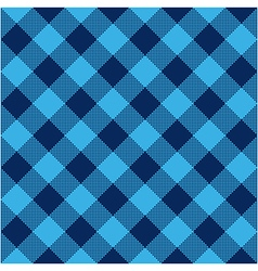Blue check diagonal textile seamless pattern vector