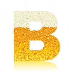 Alphabet beer b vector