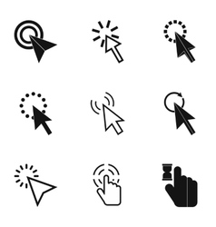 Pointer of computer icons set simple style vector
