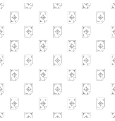 Test printed sheet pattern simple style vector