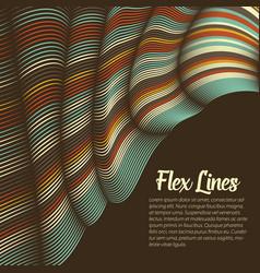 Warped lines background flexible vector