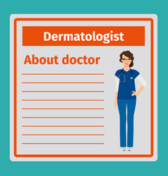 Medical notes about dermatologist vector