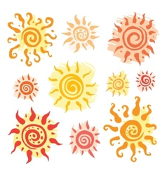 Sun set hand drawn vector