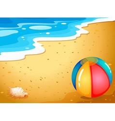 A ball at the beach vector image