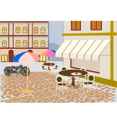 Street cafes in the city vector