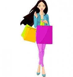 shopping diva vector image