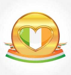 Irish flag vector image