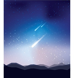 Shoot star landscape vector