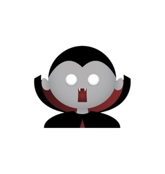 Vampire facial expression vector