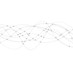 Geometric tech wavy lines background vector
