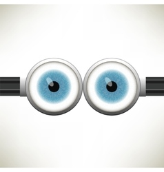 Goggle with two blue eyes vector