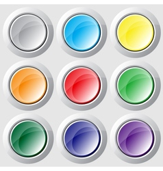 Varicolored buttons vector