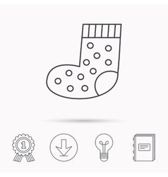 Sock icon baby underwear sign vector
