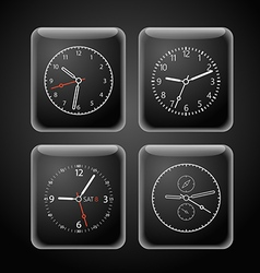 Modern digital watch dials template vector