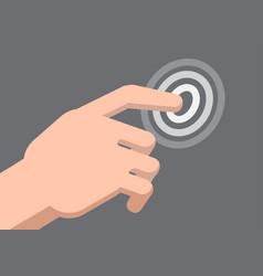 a hand touch pointer - vector image vector image