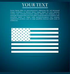 American flag icon on blue background flag of usa vector