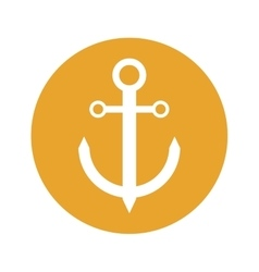 Anchor emblem icon image vector
