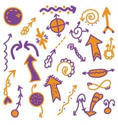 arrows and symbols vector image