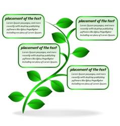 Banner plant vector