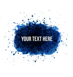 Big blue grunge splash with place for your text on vector