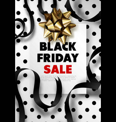 Black friday sale promotional poster with lush vector