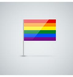 Blank flag vector