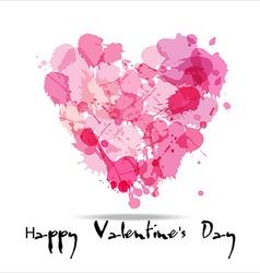 Blots color of hearts vector image