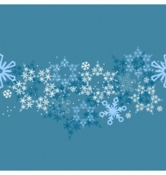 border with snowflakes vector image vector image