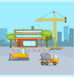 Building process concept cartoon style vector