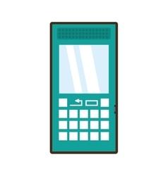 Cartoon green cellphone mobile smart communication vector