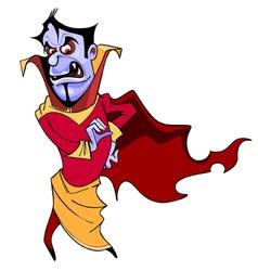 cartoon scary vampire vector image vector image