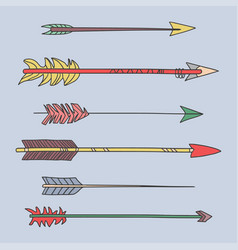 Colorful arrow tribal set vector