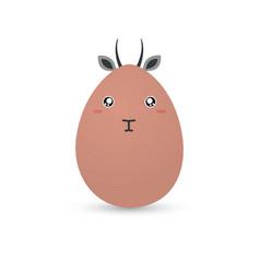 easter gazelle egg vector image