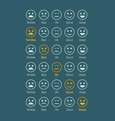 emotion feedback white faces vector image