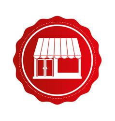 Exterior store building icon vector
