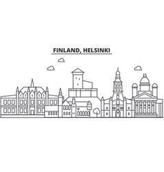 finland helsinki architecture line skyline vector image