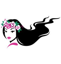 girl in wreath vector image vector image