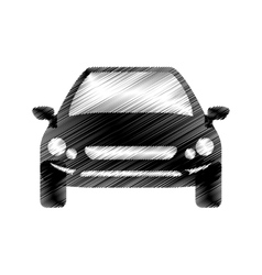 Hand drawing front view of car vector