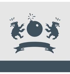Heraldry Caricature vector image vector image