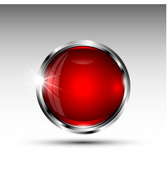 isolated round button vector image