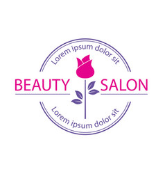 Logo template label or badge for beauty vector