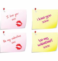 love notes vector image vector image