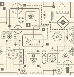 Mechanical seamless pattern 23 retro background vector