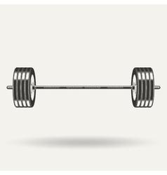 monochrome fitness icon vector image