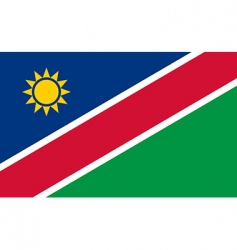 namibia flag vector image vector image