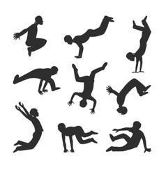 Parkour people vector